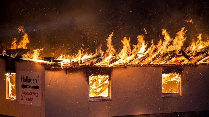 Scheunenbrand am 09.09.2016