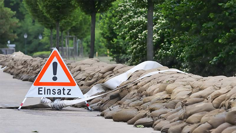Hochwassereinsatz in Seeligstadt 28.12.2016