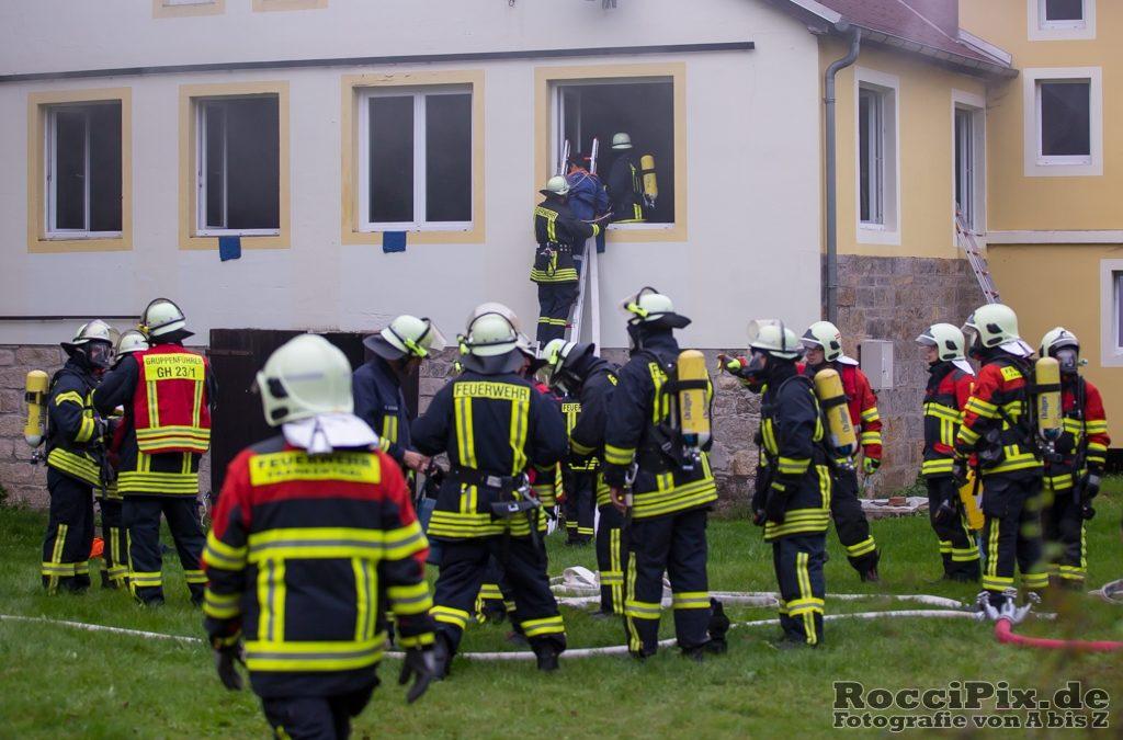 Bühlau – defekte Maschine löst Großbrand am 28.09.2017